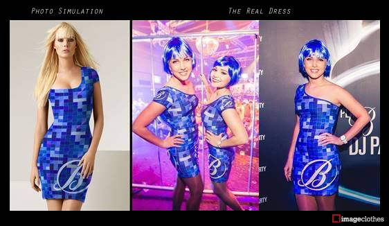 Free Photo Simulation and Real Dress